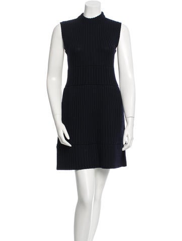 Prada Sleeveless Rib Knit Dress None