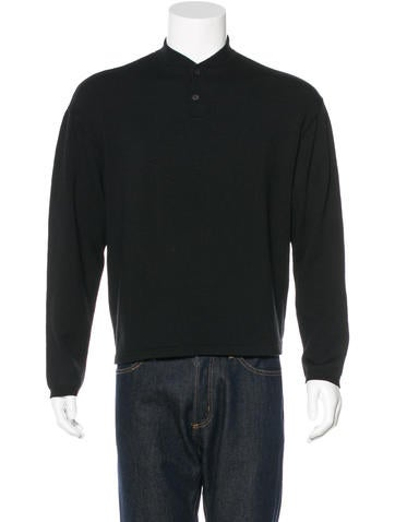 Prada Wool Henley Sweater None