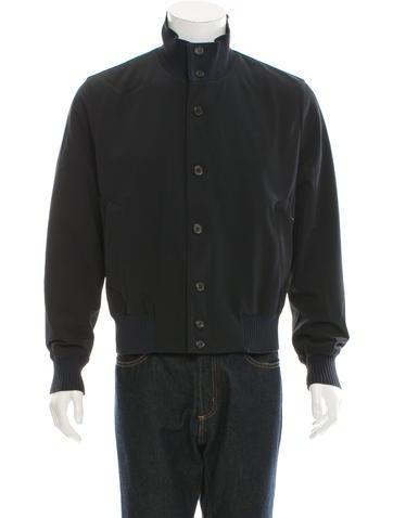Prada Rib Knit-Trimmed Lightweight Jacket None