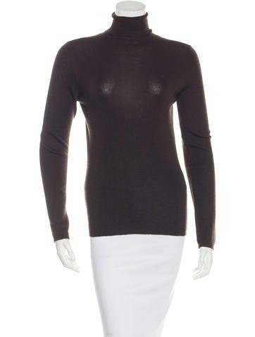 Prada Sheer Knit Turtleneck Sweater None