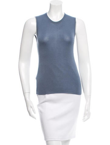 Prada Cashmere Sleeveless Top None