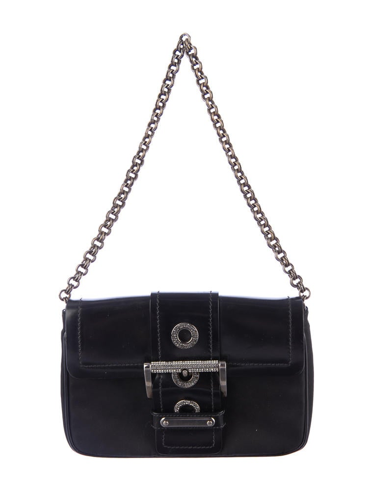 prada shoulder bag nylon - prada shoulder bag black+bronze