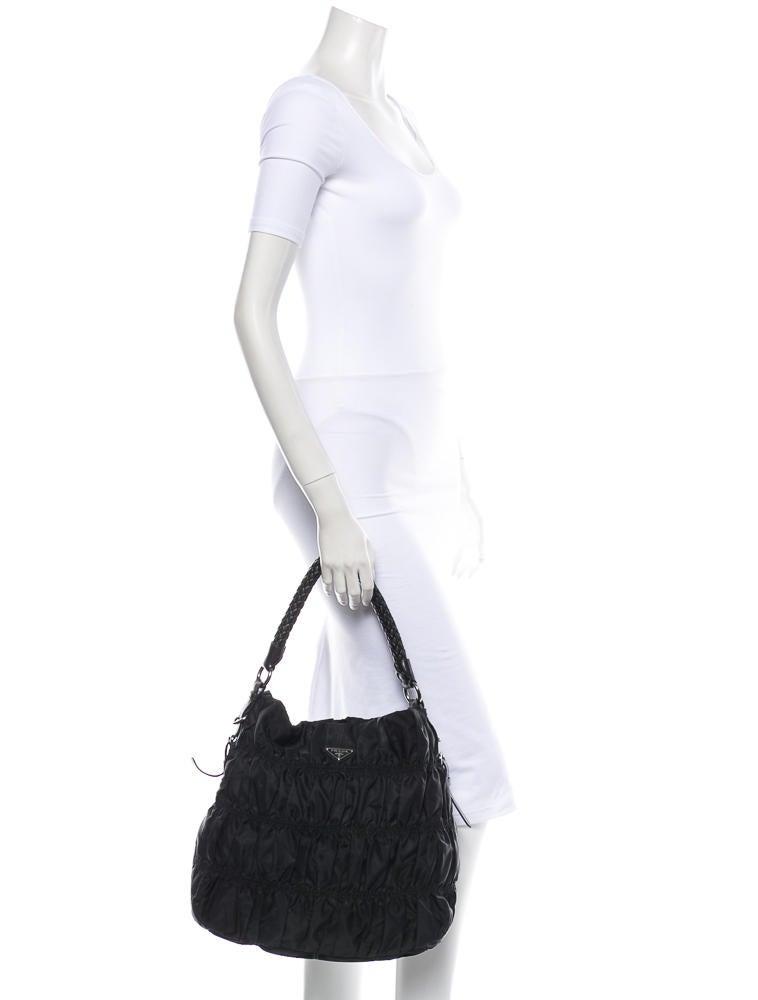 orange prada shoes - Prada Tessuto Gaufre Hobo - Handbags - PRA29928   The RealReal