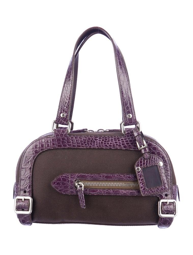 Prada Alligator Trim Bowler Bag - Handbags - PRA30755 | The RealReal