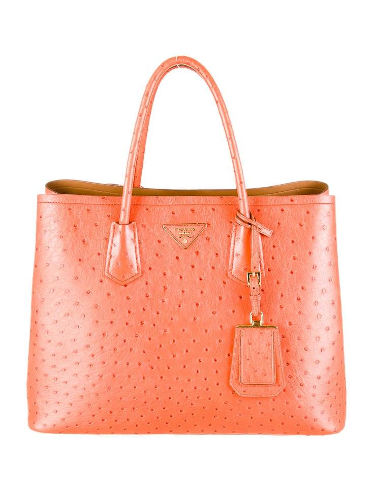 Prada Ostrich Double Tote - Handbags - PRA30836   The RealReal