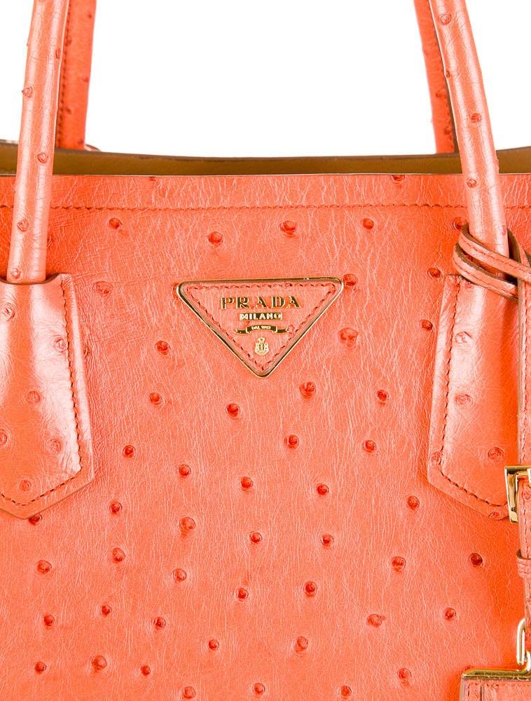 fec50b788f19 prada large leather tote - Prada Ostrich Double Tote - Handbags - PRA30836  | The RealReal