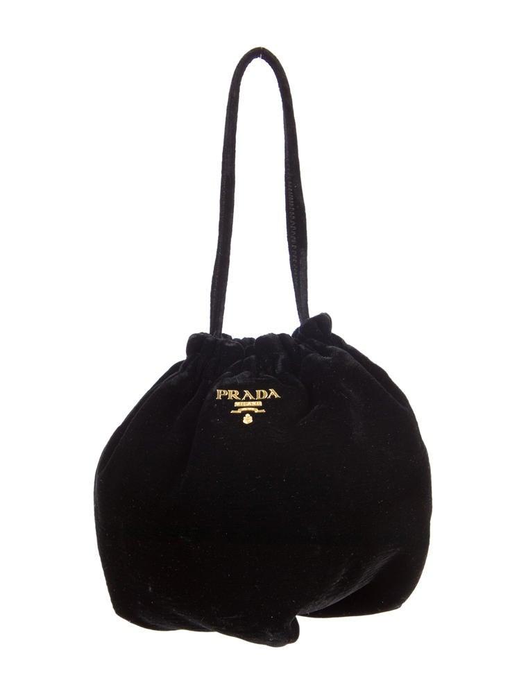 pink prada saffiano bag - Prada Velvet Pouch - Handbags - PRA31398   The RealReal