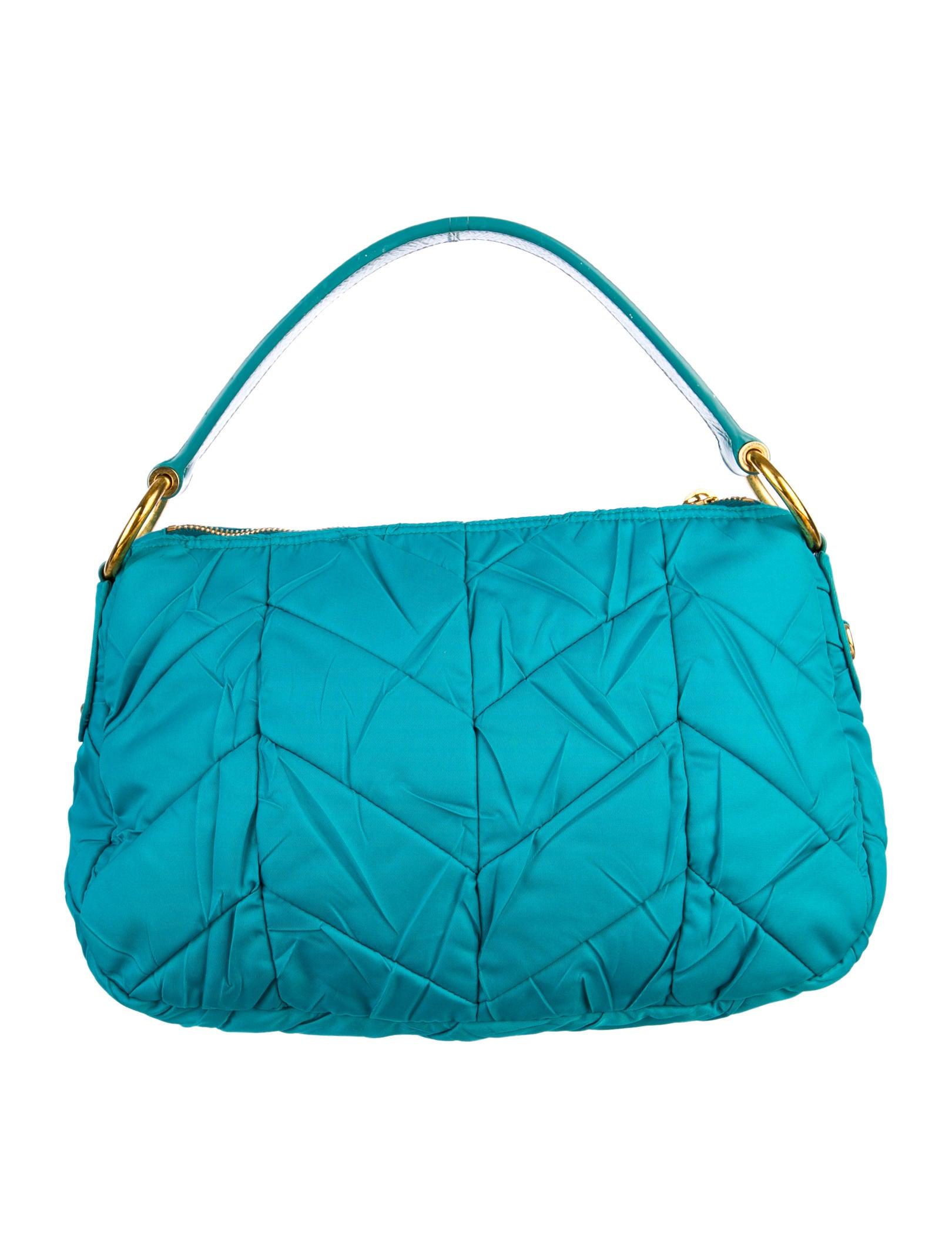 Prada Chevron Quilted Tessuto Bag - Handbags - PRA39060 | The RealReal