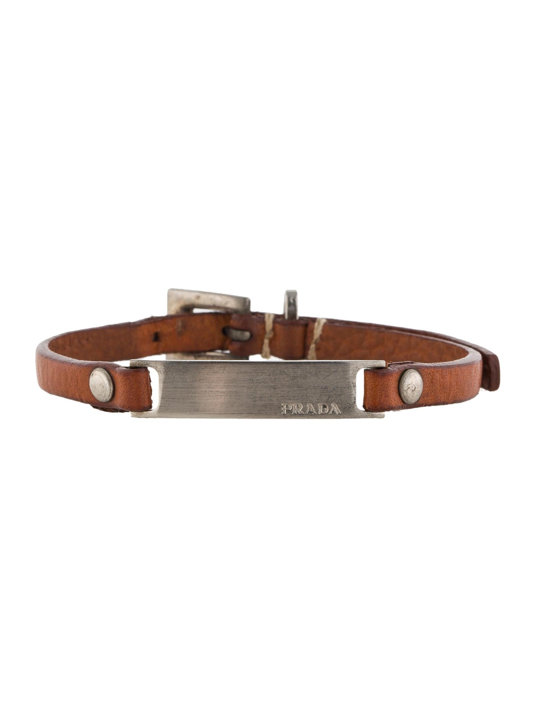 baby pink chanel purse - Prada Leather Bracelet - Jewelry - PRA40439 | The RealReal