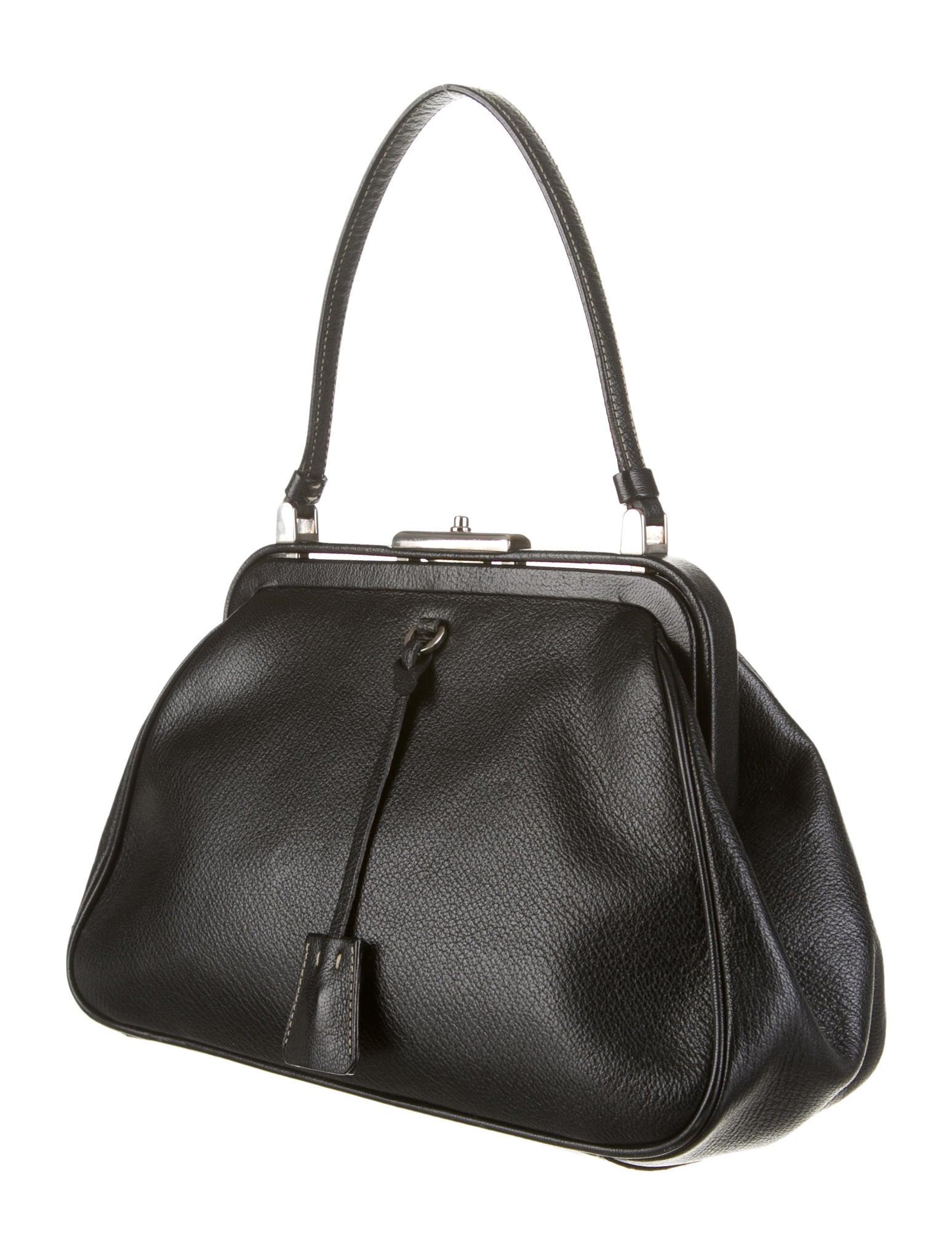 prada handbags cheap - Prada Madras Cerniera Doctor Bag - Handbags - PRA40524 | The RealReal