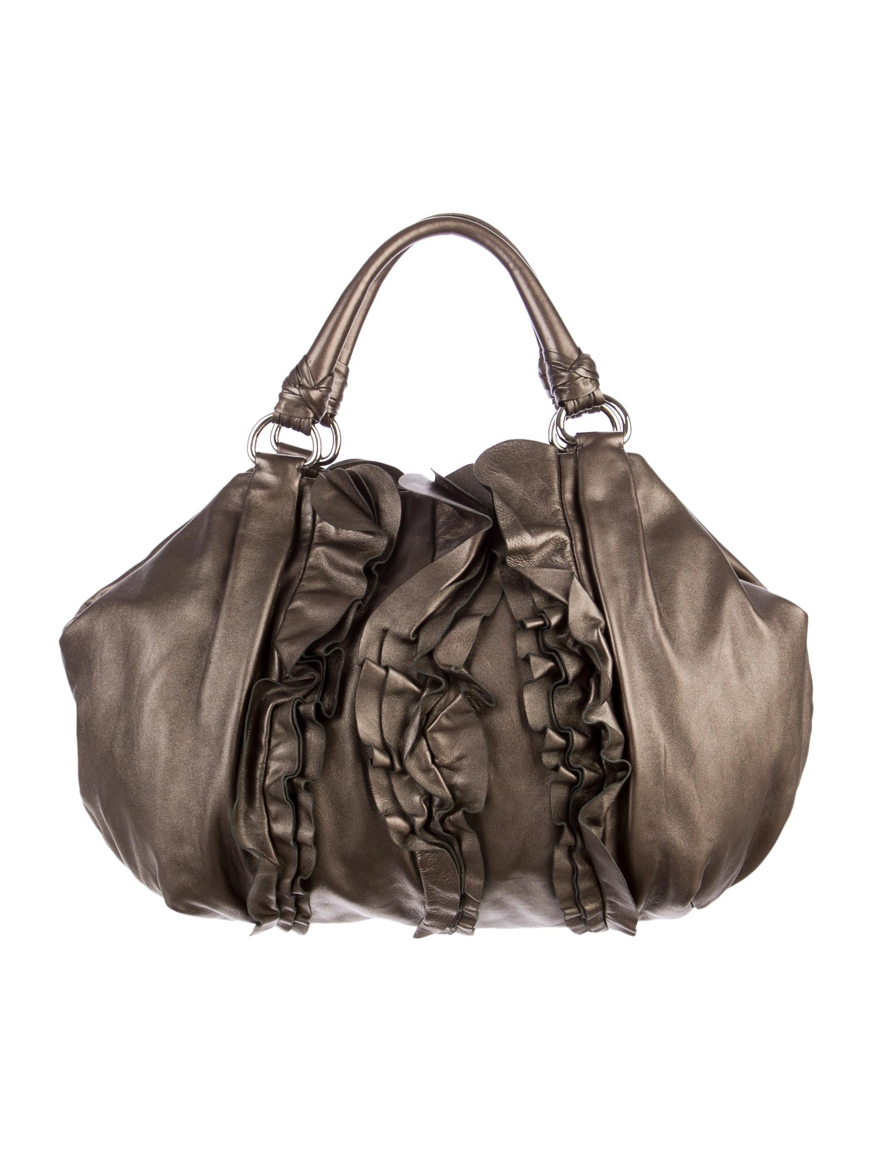 prada leather bags - prada ruffe-accented nappa handle bag, prada purse leather