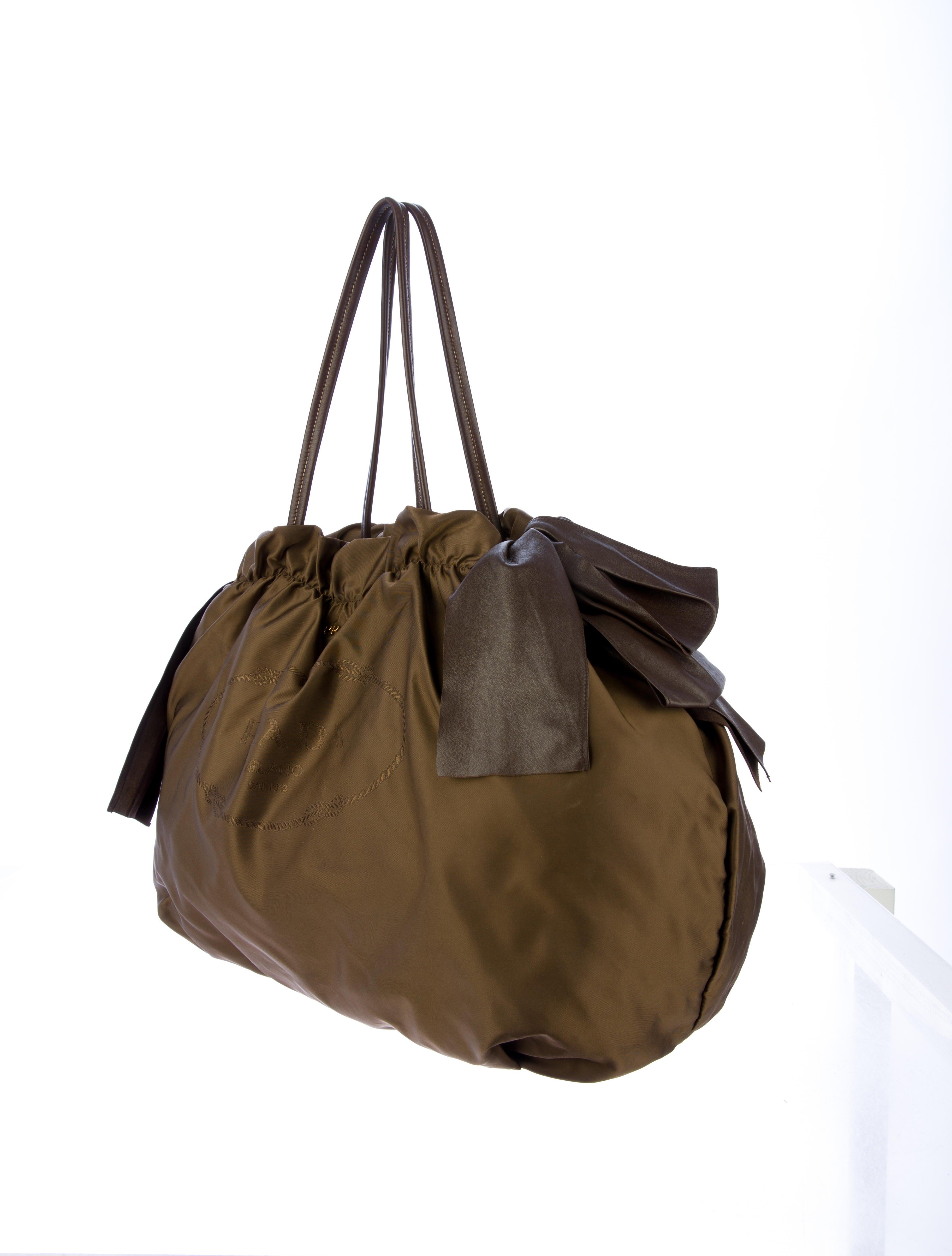 Prada Tessuto Bow Tie Bag - Handbags - PRA41095 | The RealReal