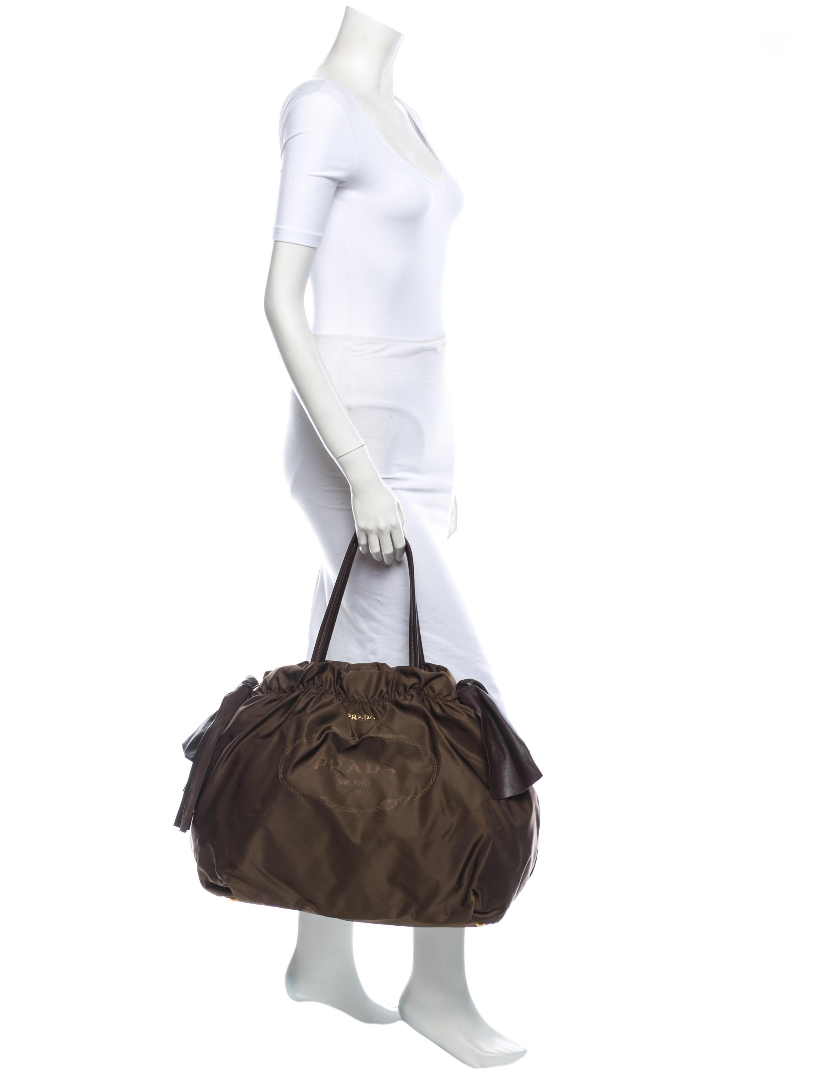 071d41f1e0e22d prada saffiano mens bag - Prada Tessuto Bow Tie Bag - Handbags - PRA41095 |  The. Prada Women\u0026#39;s ...