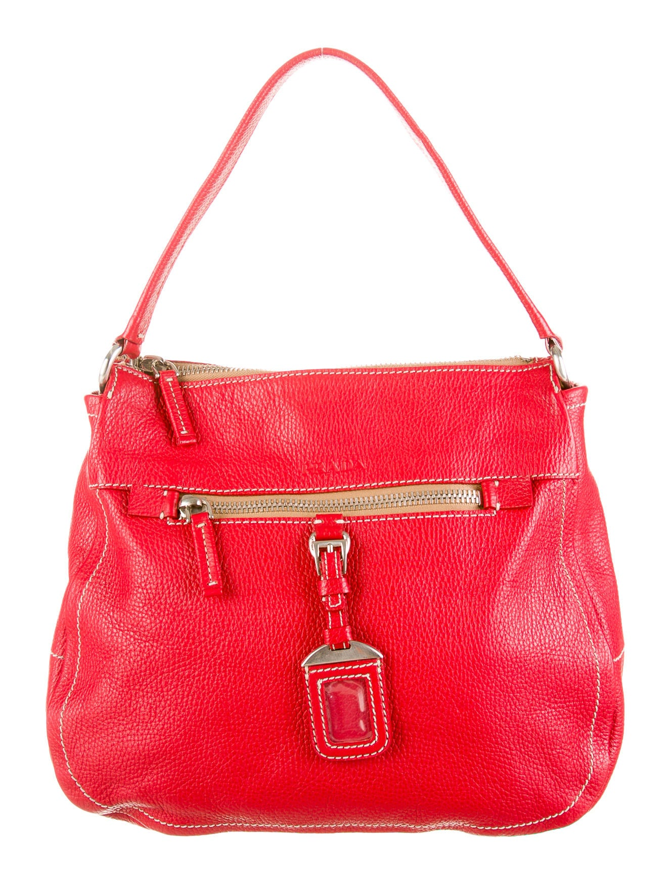 b492e3227d9d prada logo-accented shoulder bag
