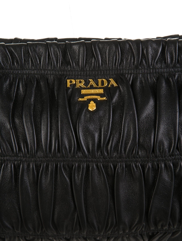 prada brown nylon bag - Prada Nappa Gaufre Clutch - Handbags - PRA56690   The RealReal