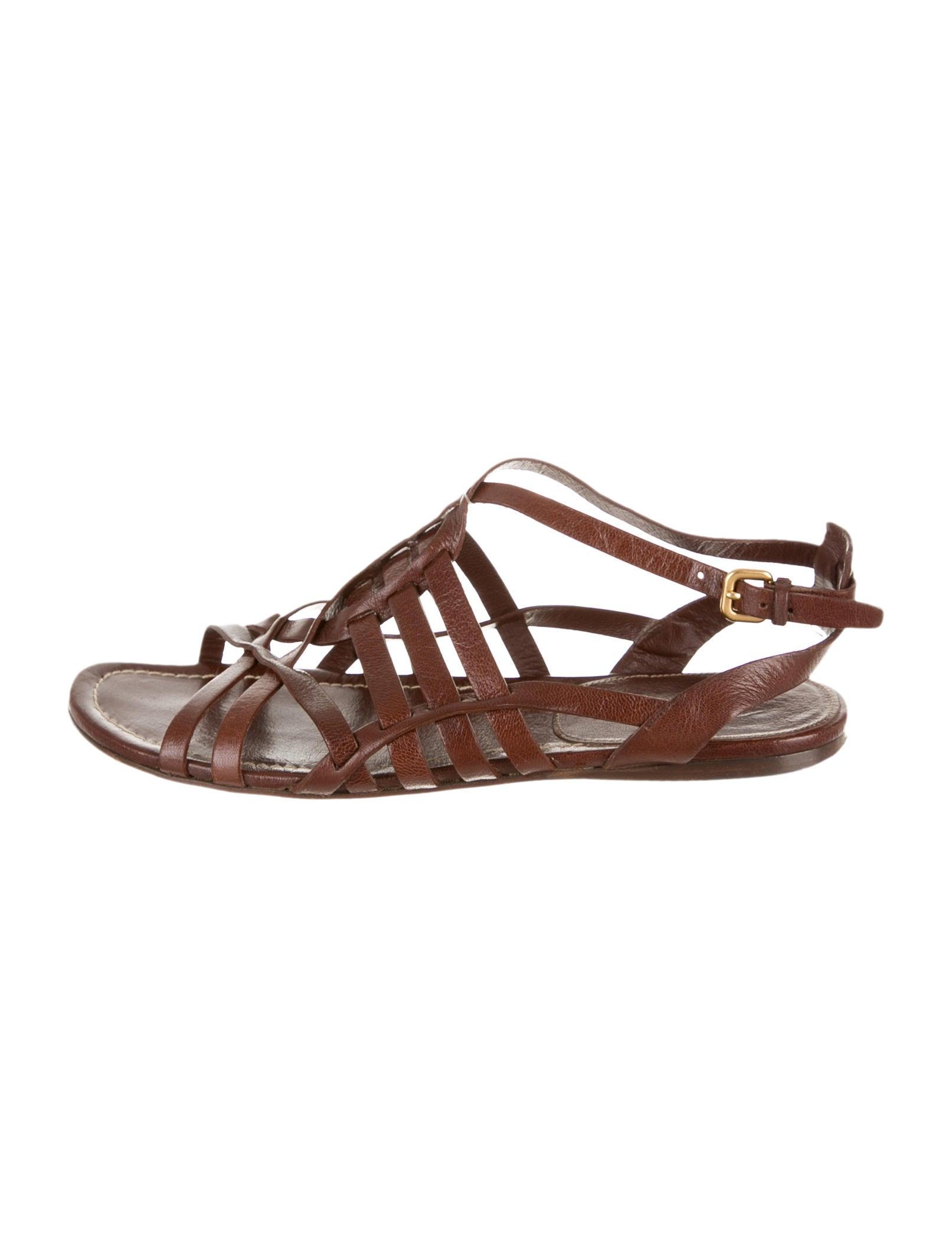 Creative Prada Women 11 Cm Heel Leather Sandal Shoes  Spence Outlet