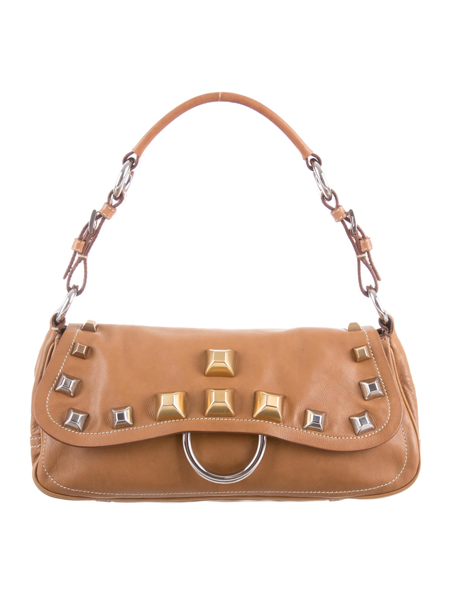 Prada Nappa Shoulder Bag - Handbags - PRA57485   The RealReal