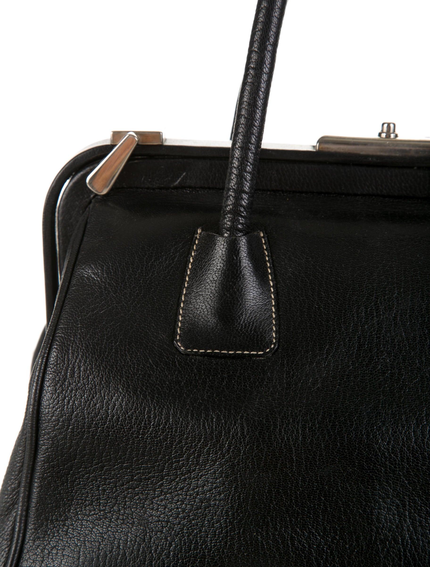 black loafers with gold spikes - prada small madras cerniera doctor bag, prada tessuto saffiano ...