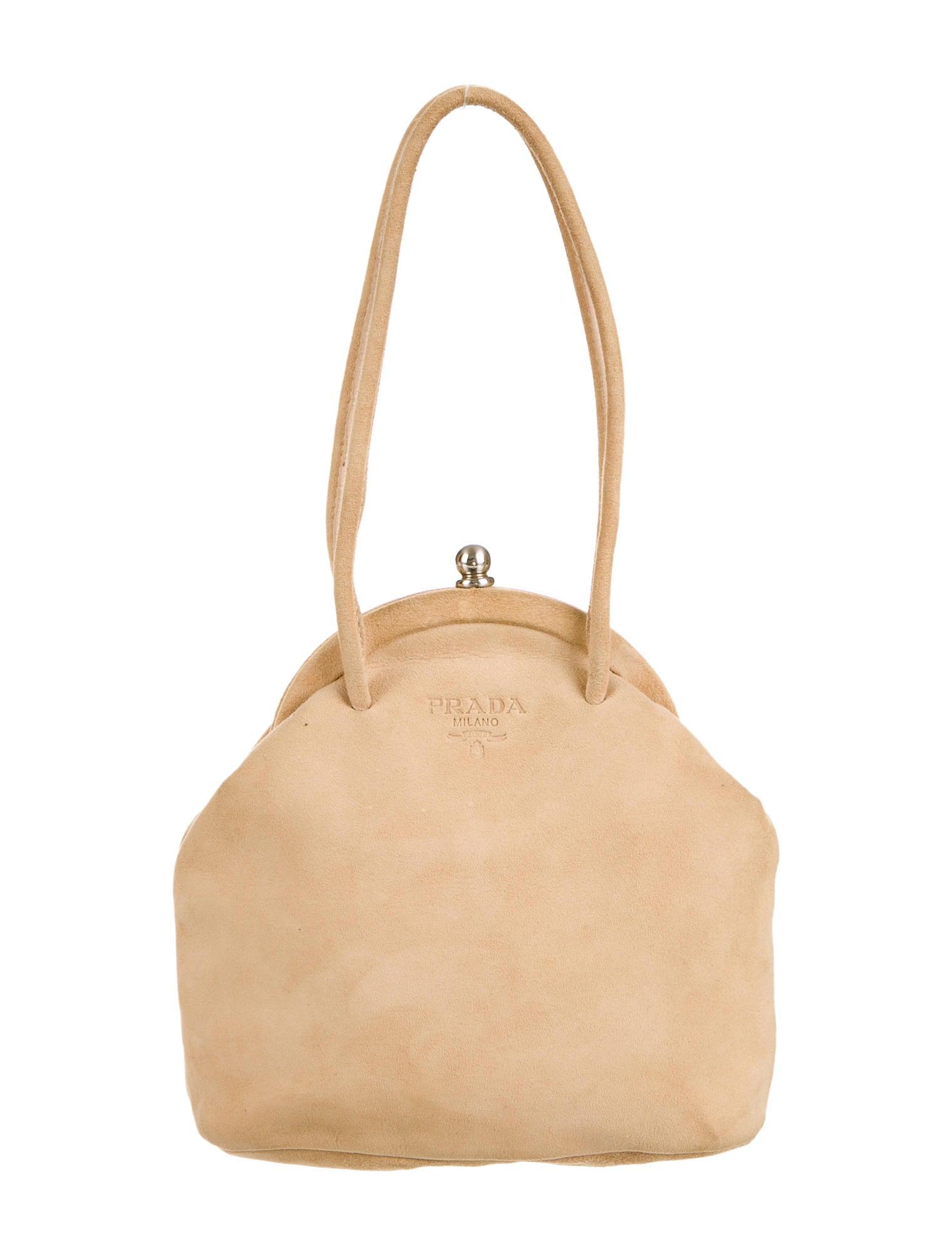 Prada Suede Evening Bag - Handbags - PRA59560 | The RealReal
