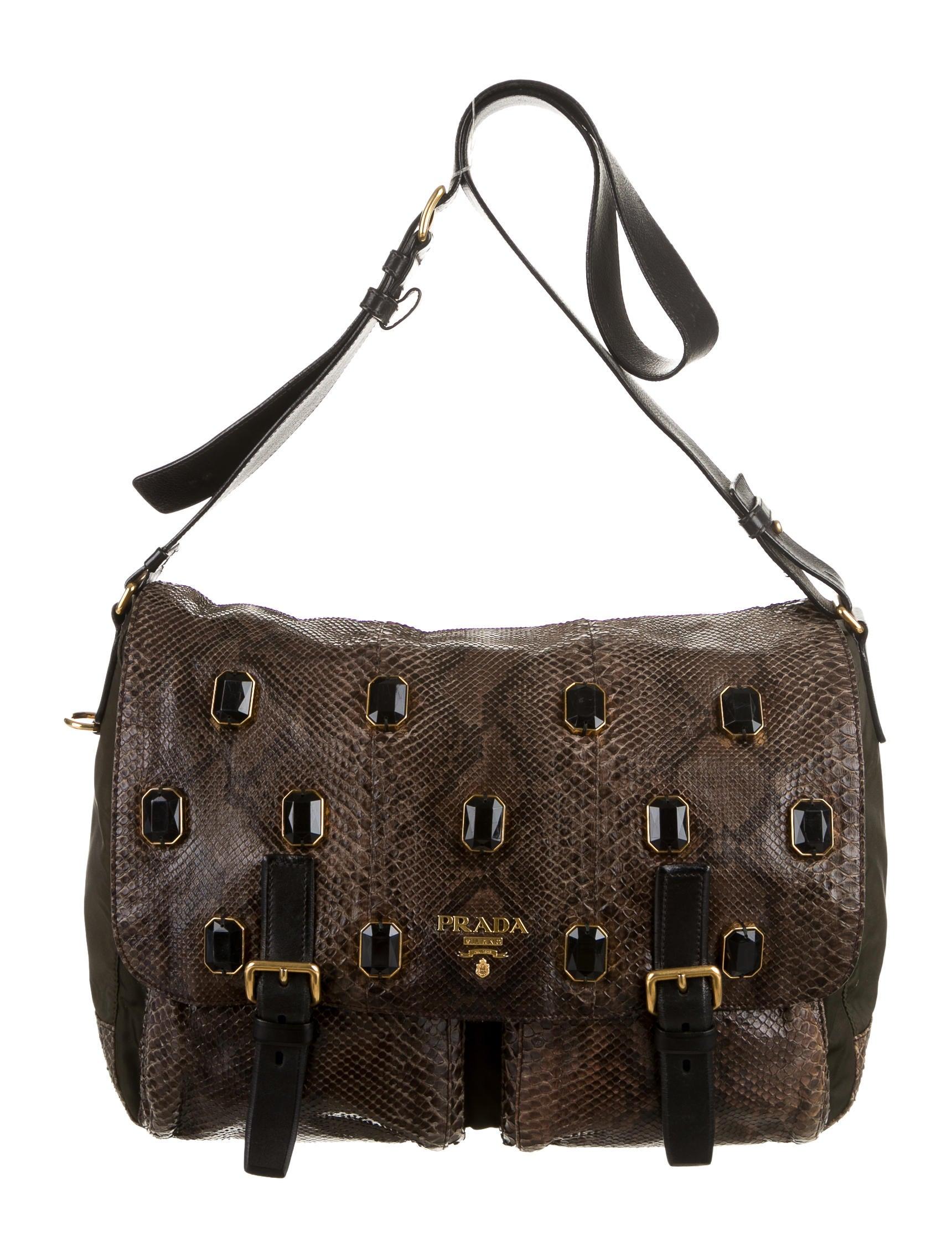 Prada Python Jewel Messenger Bag - Handbags - PRA59969 | The RealReal