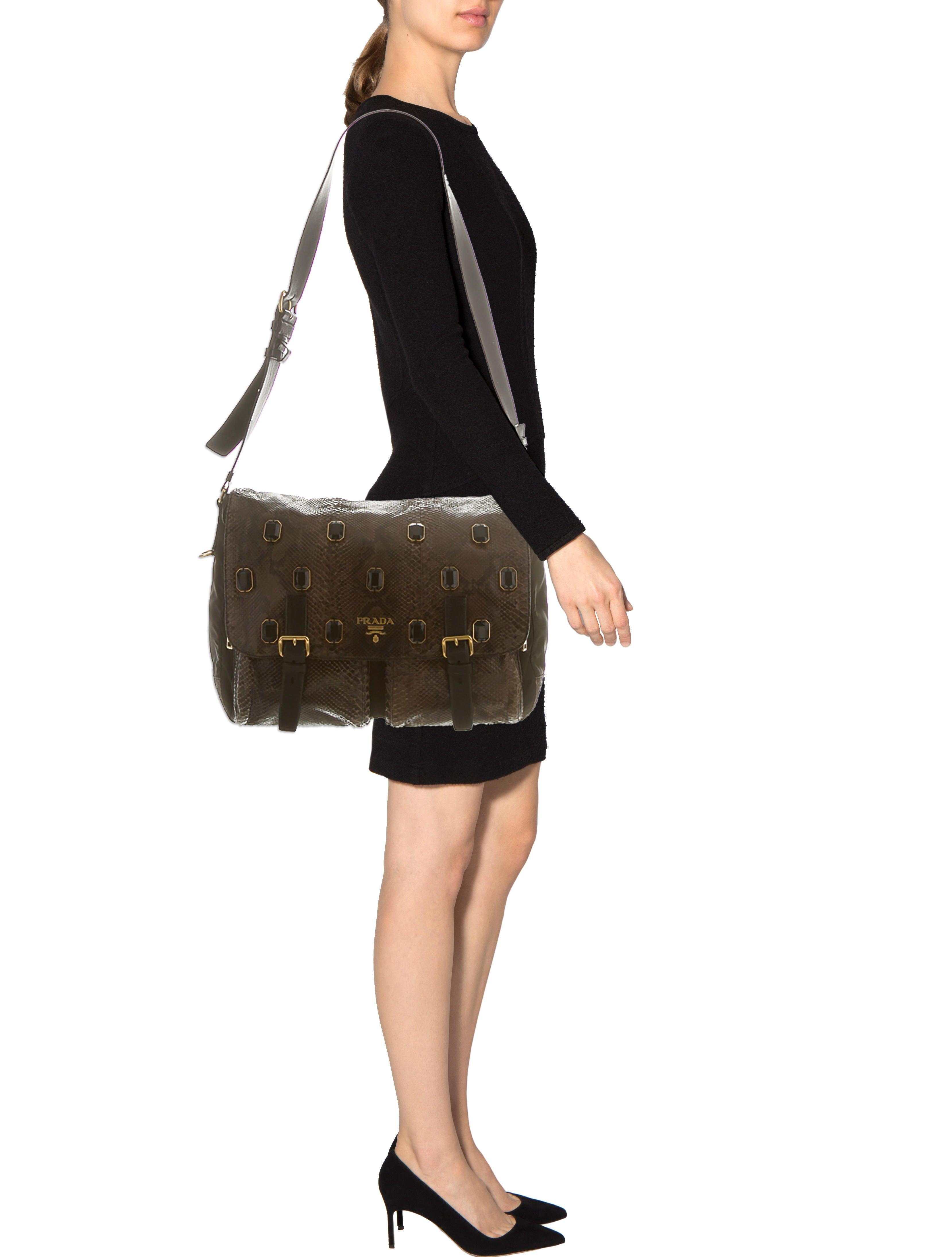 faux prada - Prada Python Jewel Messenger Bag - Handbags - PRA59969   The RealReal