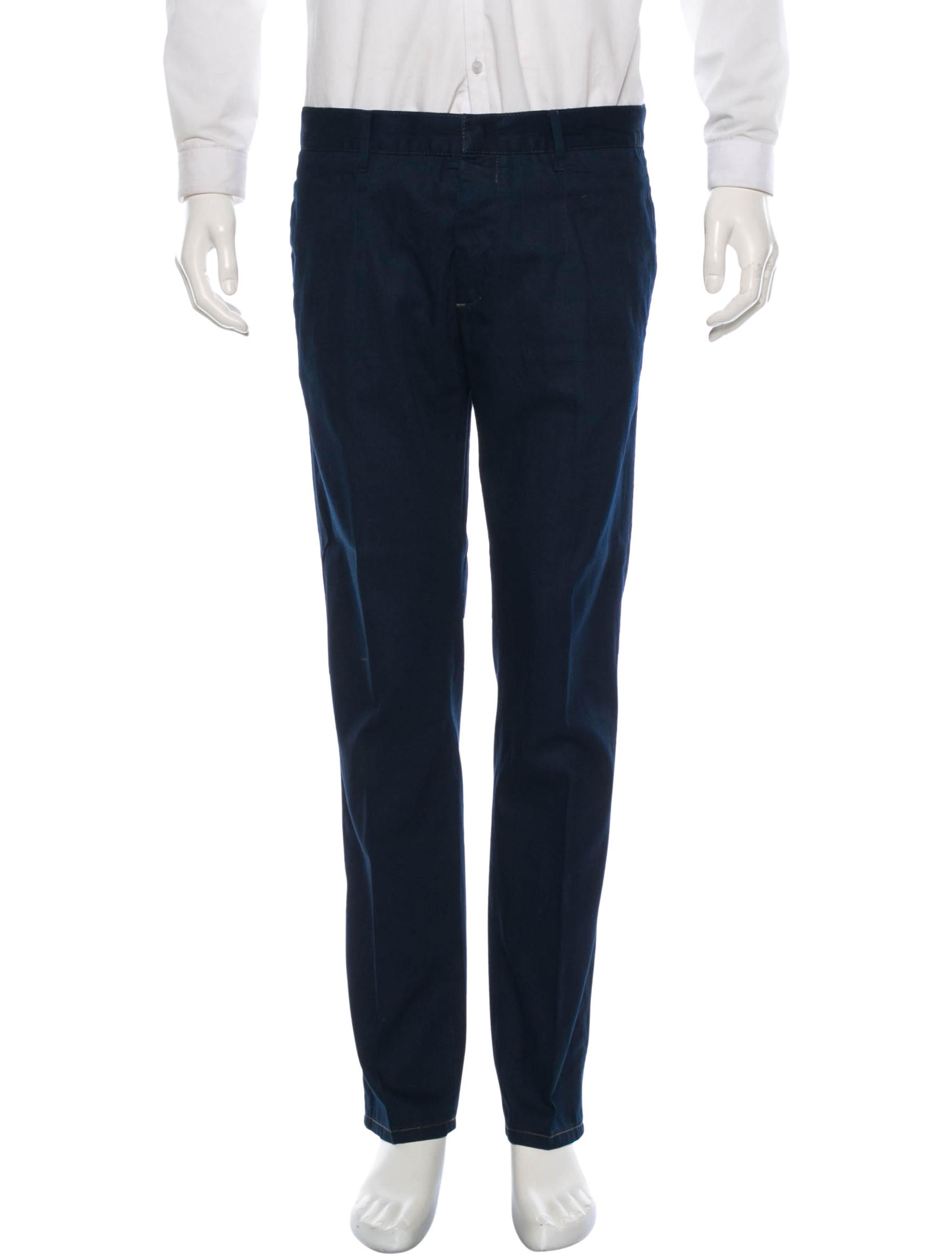 Prada chambray pants clothing pra61103 the realreal for Chambray jeans