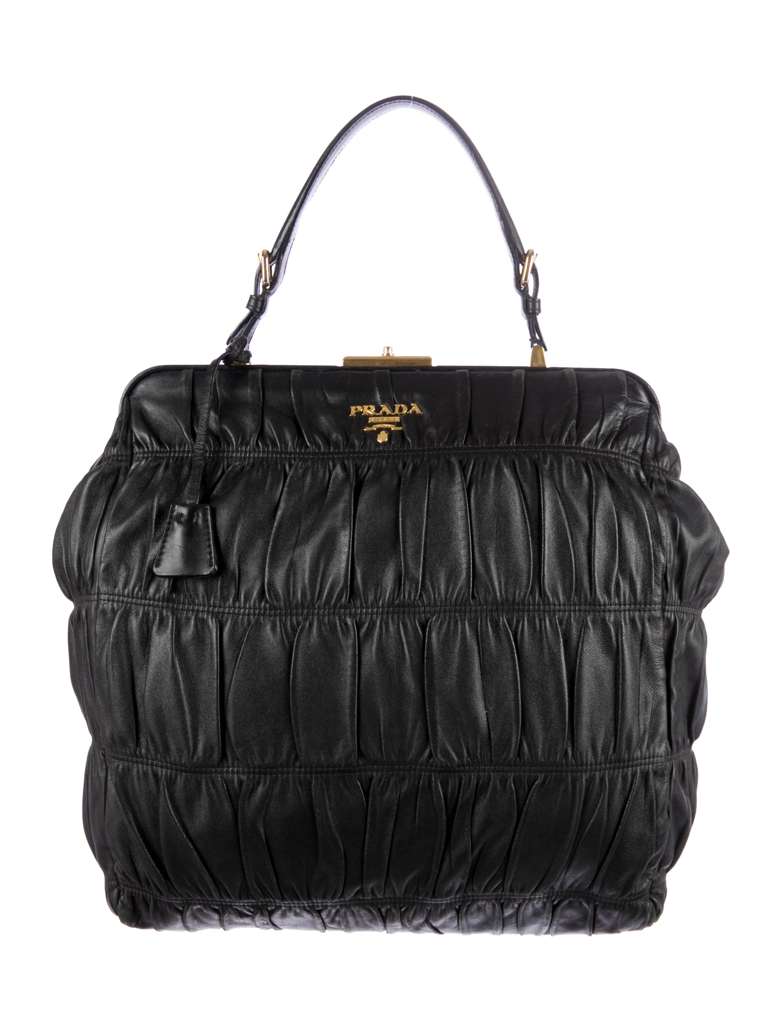 Prada Nappa Gaufre Bag - Handbags - PRA63084 | The RealReal