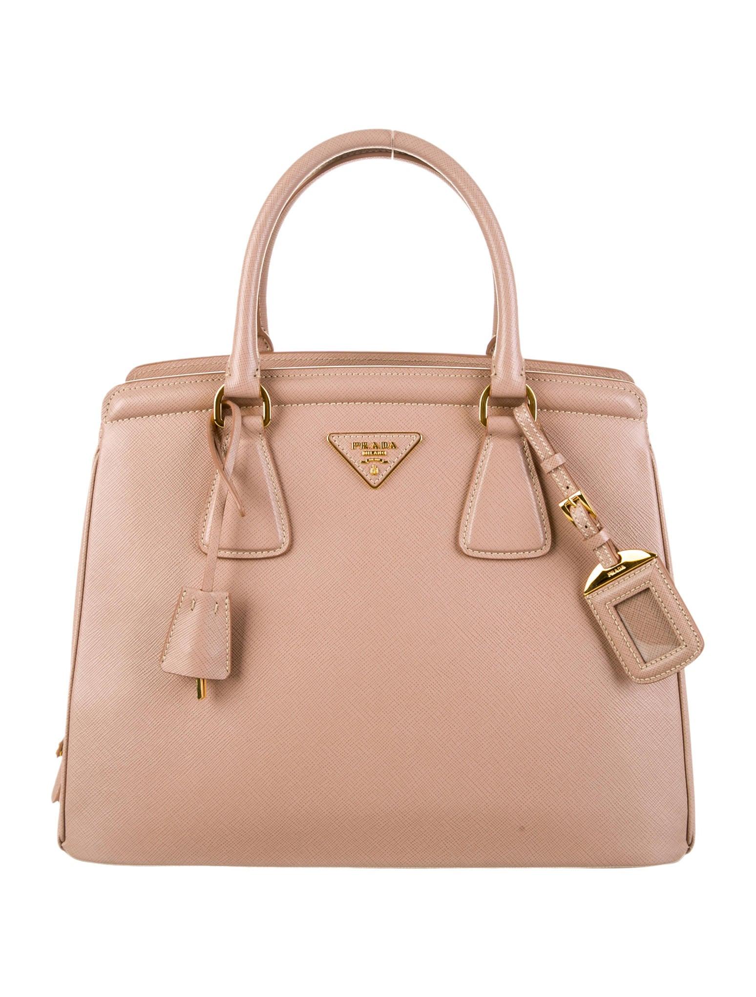 Prada Saffiano Parabole Tote - Handbags - PRA63104   The RealReal