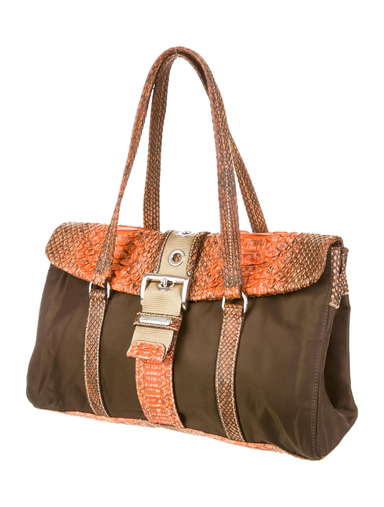 prada messenger bags - prada tessuto python shoulder bag, how much is prada saffiano bag