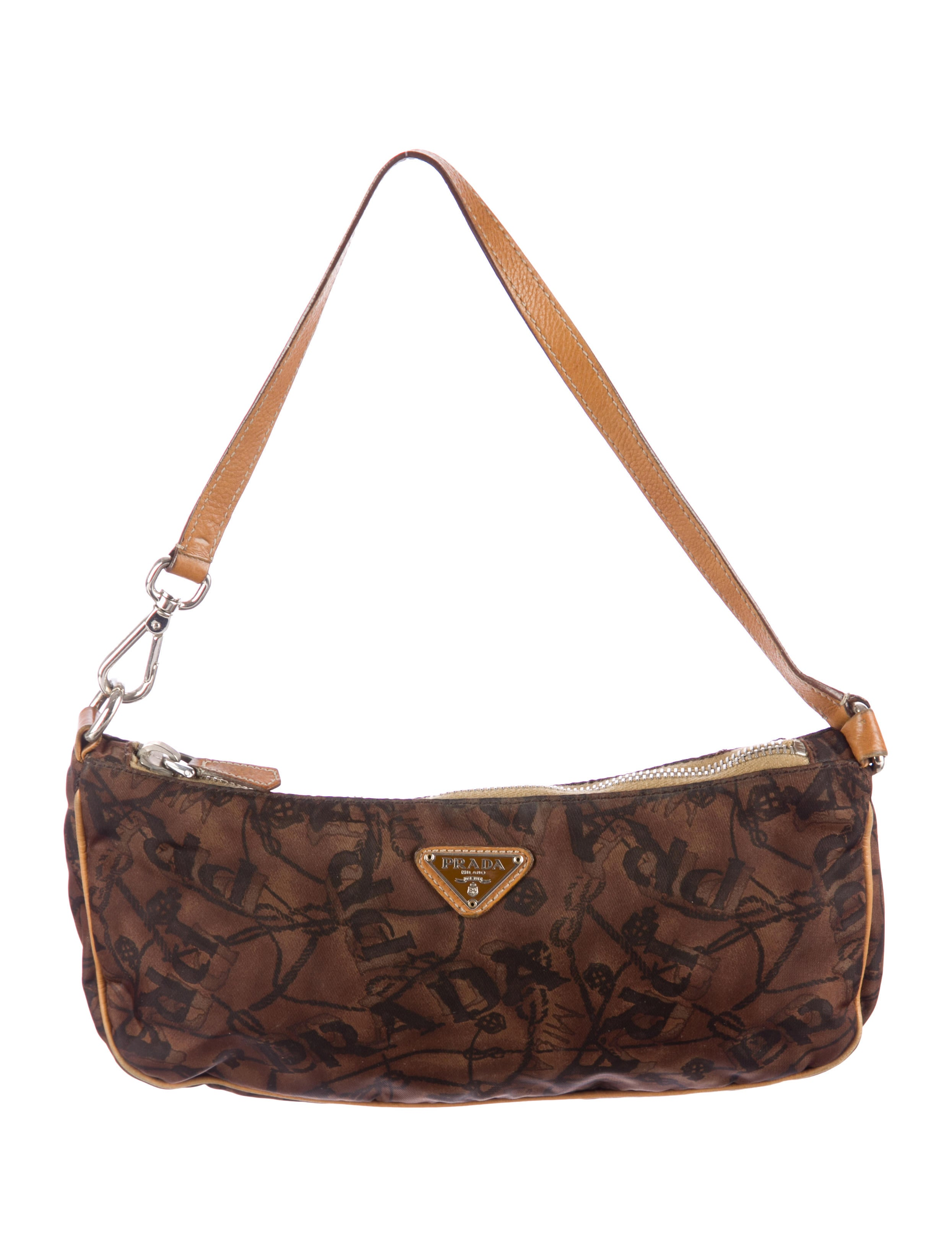 discount authentic prada handbags - Prada Printed Tessuto Pochette - Handbags - PRA64315 | The RealReal