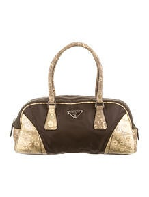 prada pink leather bag - Prada Cervo Gaufre Satchel - Handbags - PRA70238   The RealReal