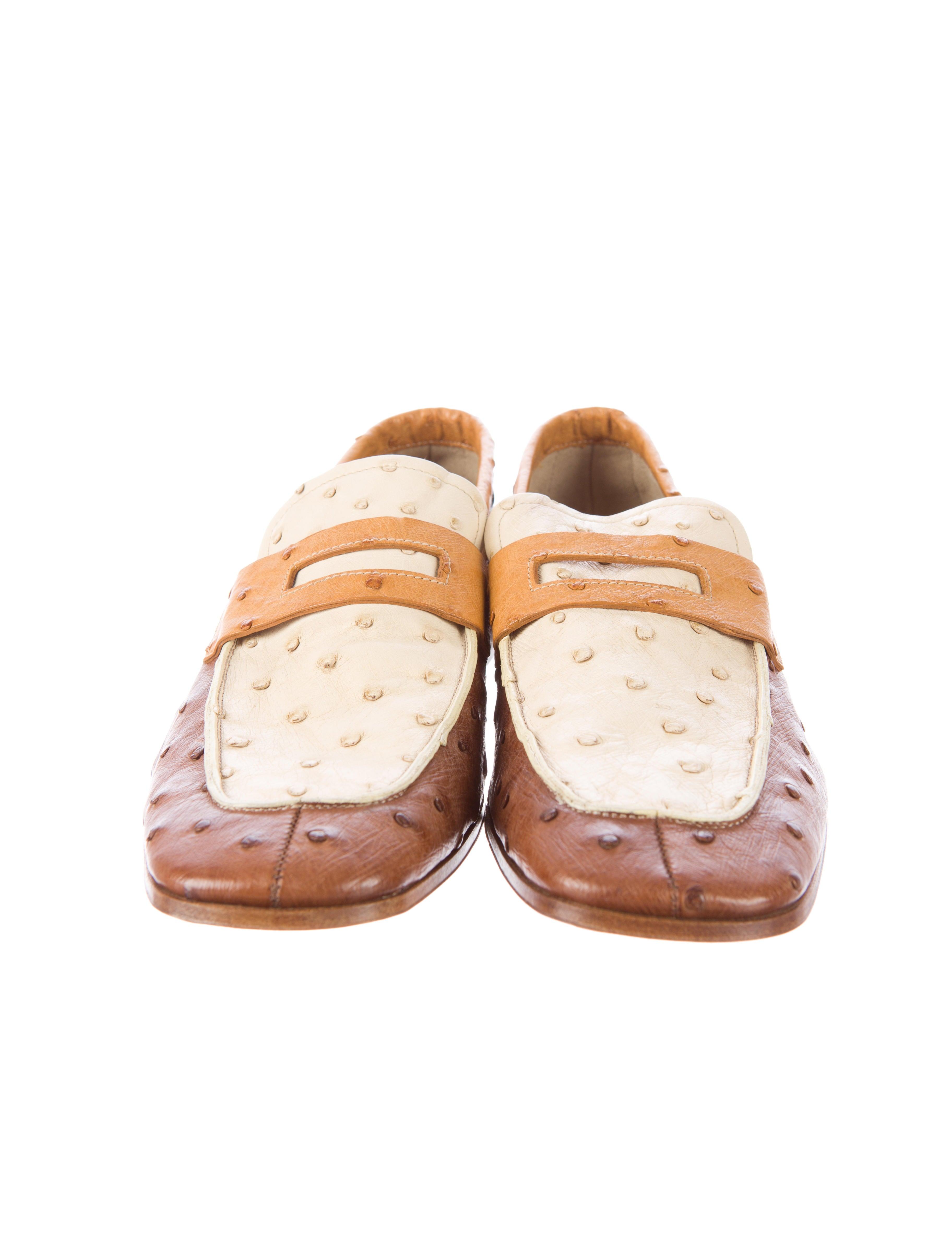 prada wristlet pouch - Prada Ostrich Loafers - Mens Shoes - PRA67370 | The RealReal
