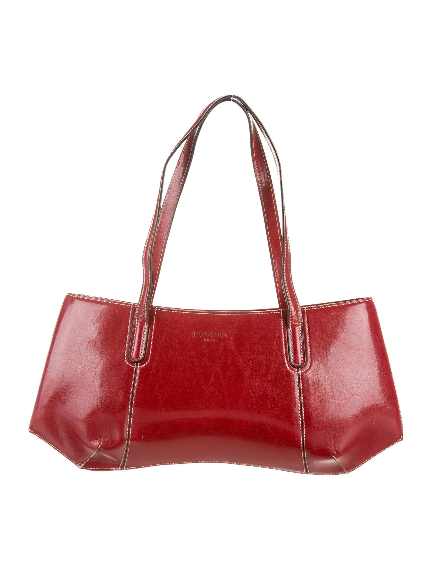 fake prada - prada shoulder bag black + white + red