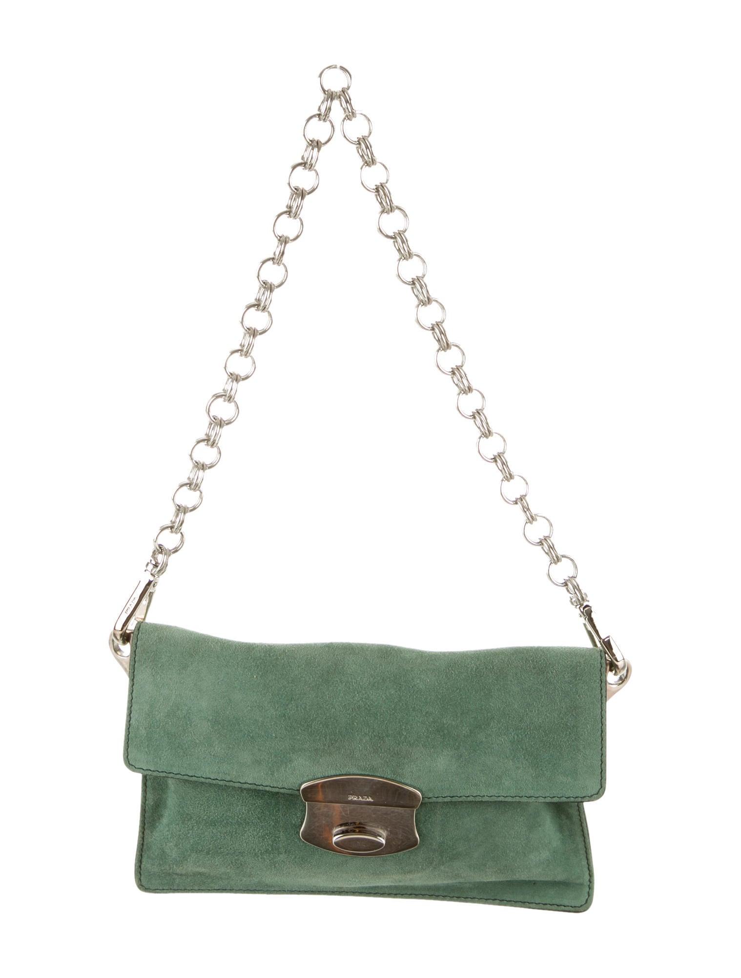 prada black nylon messenger bag - prada suede chain-link shoulder bag, prada diaper bag