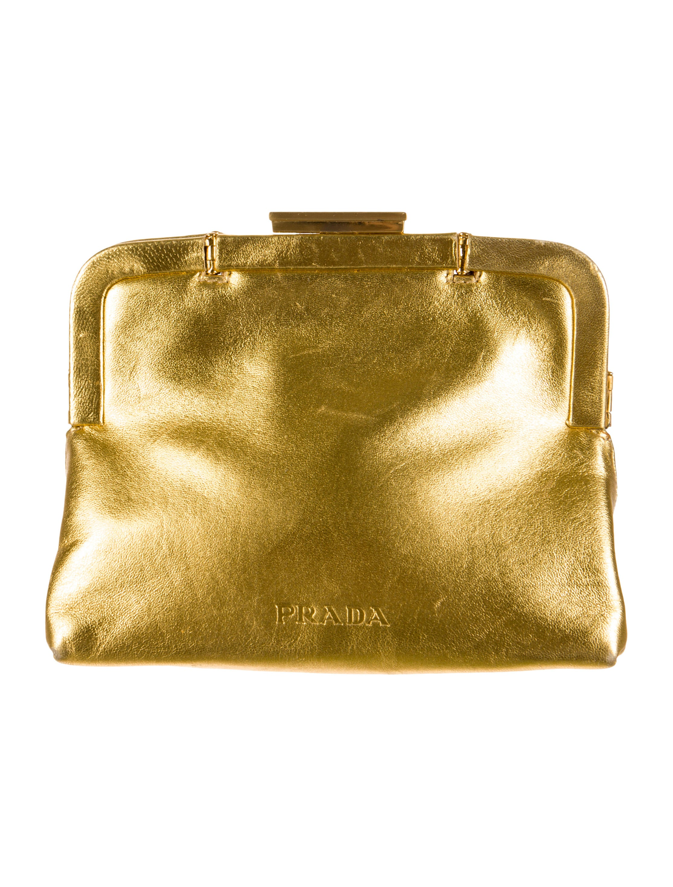 Prada Nappa Metal Clutch - Handbags - PRA70135 | The RealReal