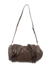 prada handbag orange - prada textured leather berlino shoulder bag, prada vernice flower