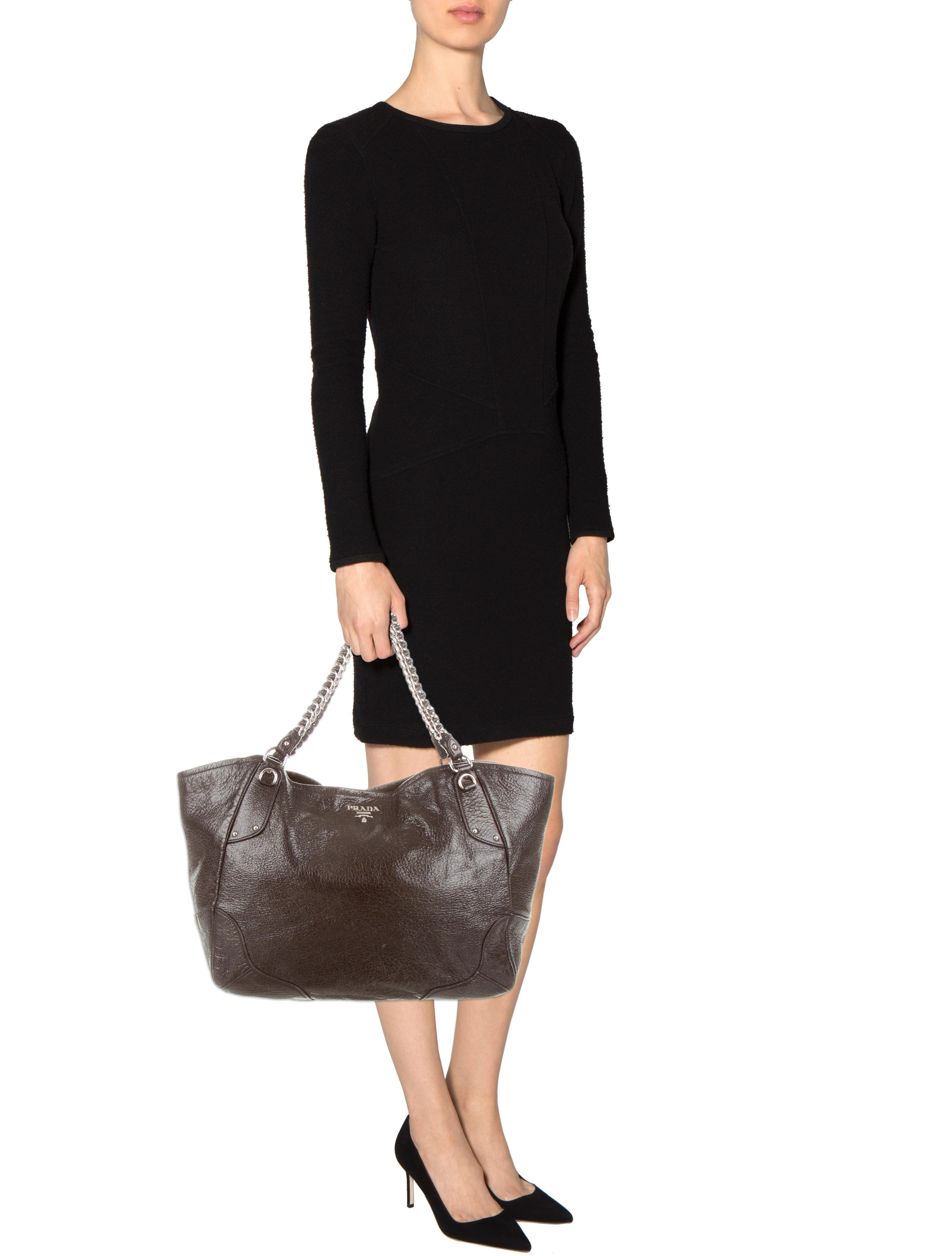 diaper bags prada - Prada Cervo Lux Chain Tote - Handbags - PRA71733 | The RealReal