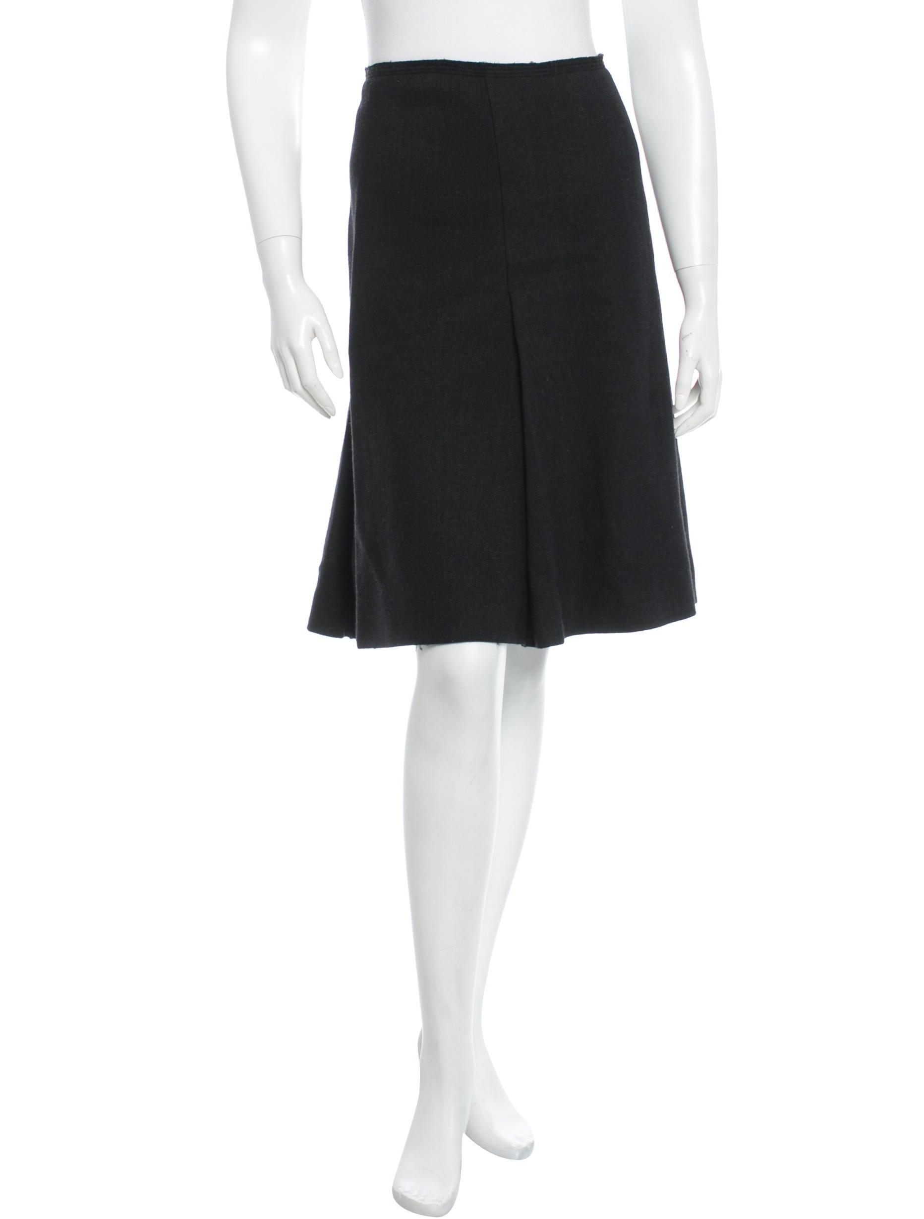 prada wool a line skirt clothing pra72891 the realreal