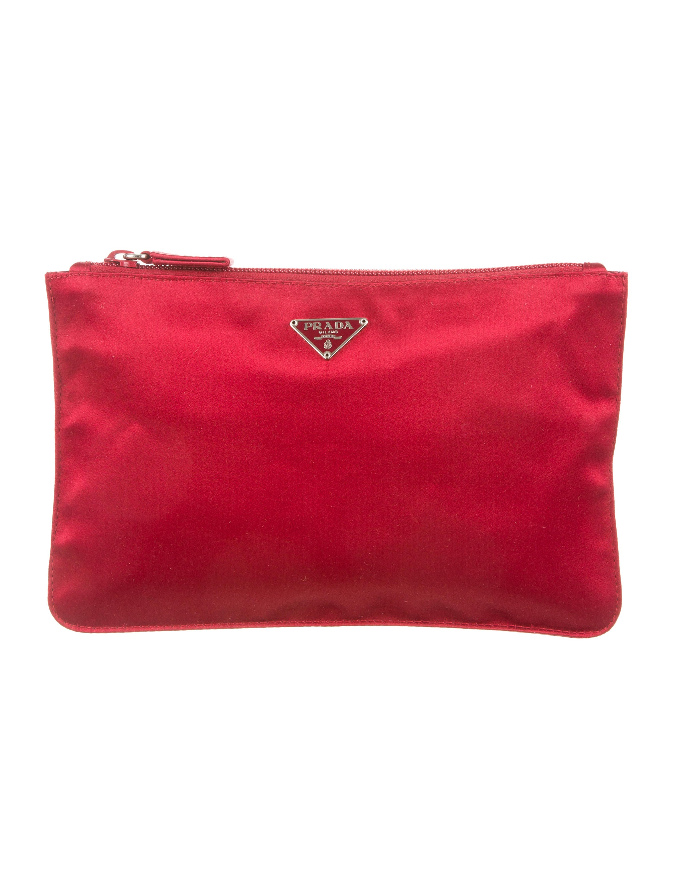prada black clutch bag - prada satin pouch, prada bag collections