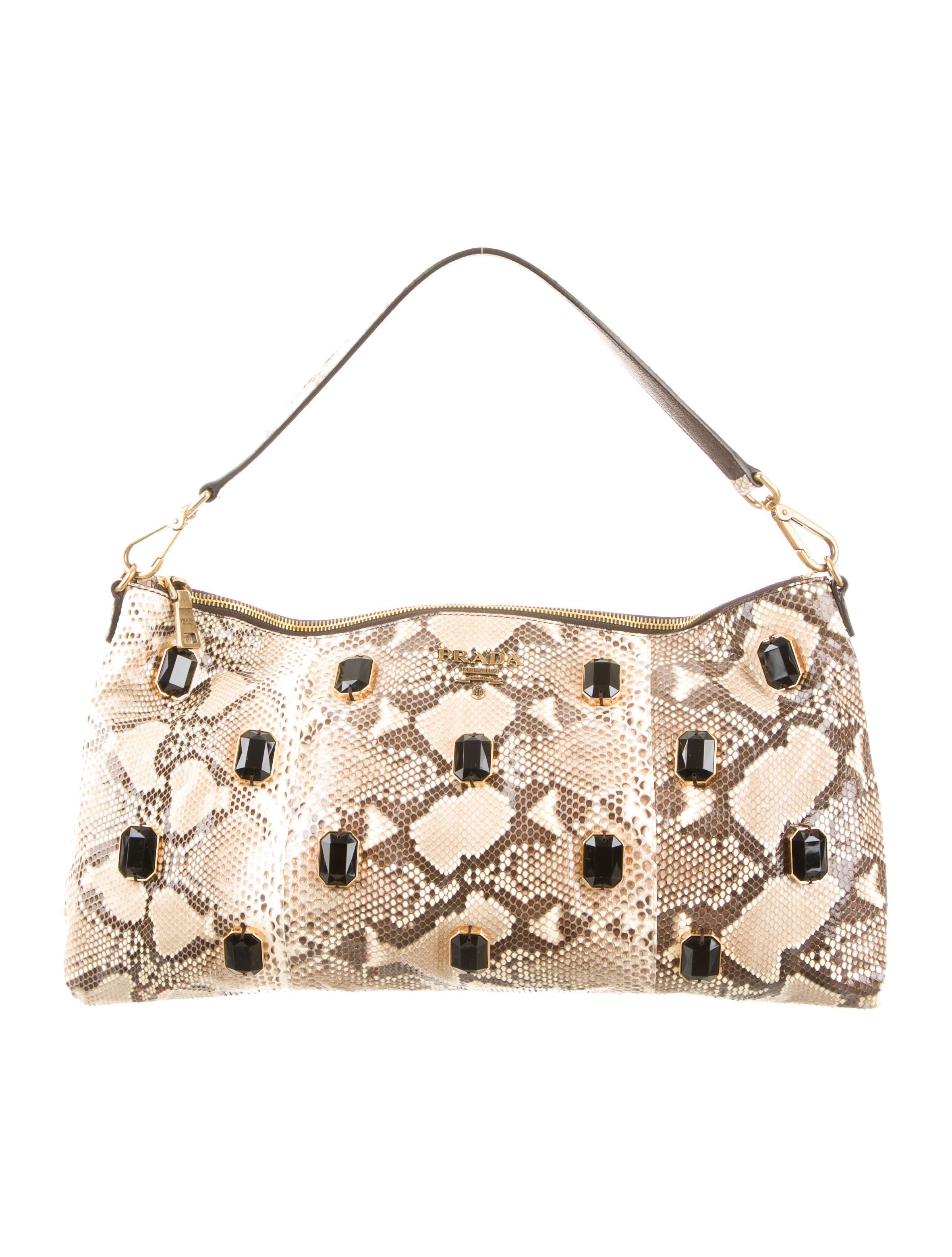 prada wallet price - Prada Python Pietre Shoulder Bag - Handbags - PRA73621 | The RealReal