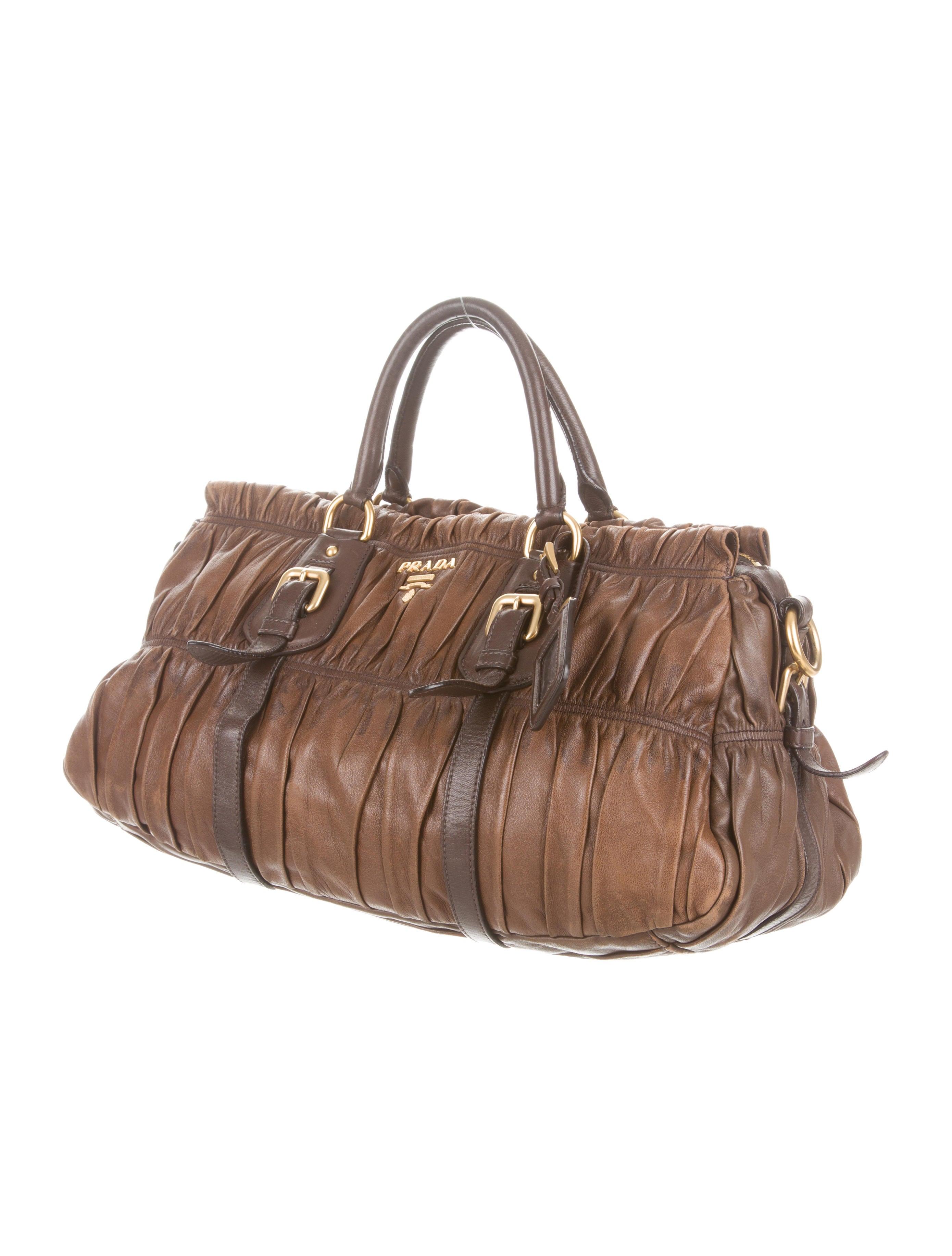 Prada Nappa Gaufre Satchel - Handbags - PRA81589 | The RealReal