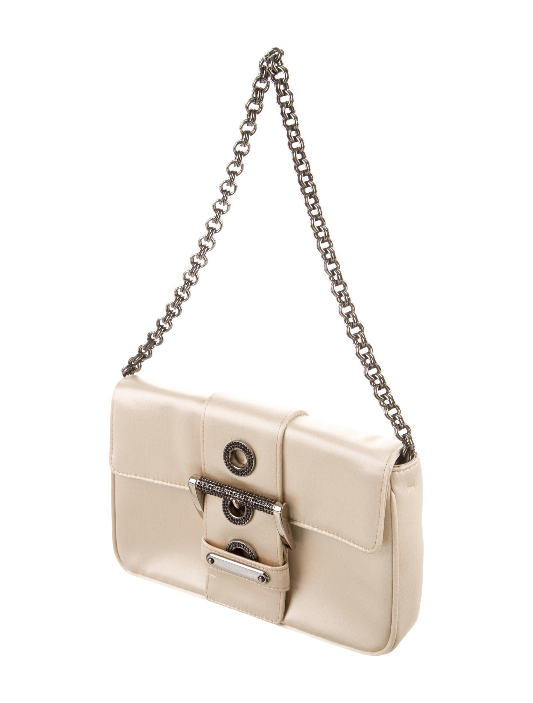 Prada Embellished Satin Clutch - Handbags - PRA81636   The RealReal