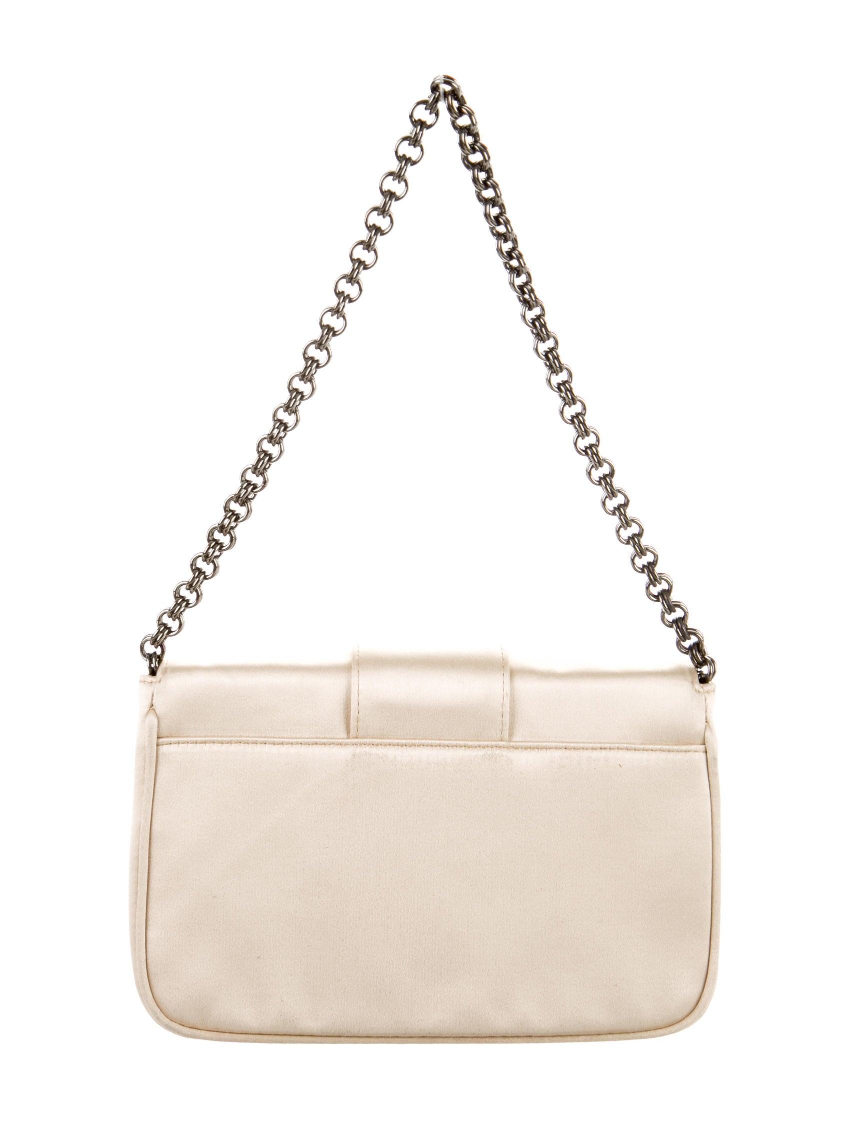 0558c1ebe549 prada fringe tote bag - Prada Embellished Satin Clutch - Handbags -  PRA81636