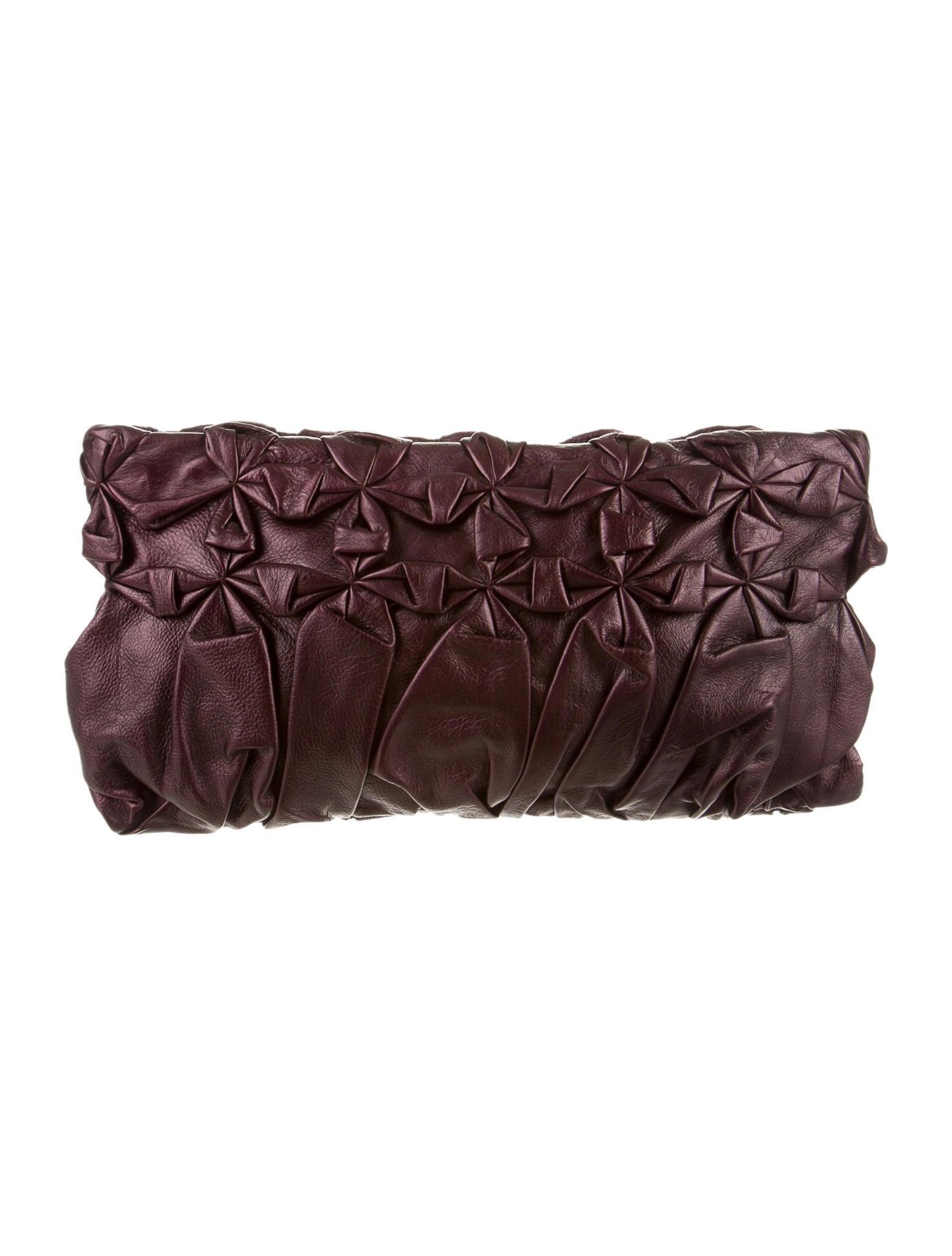 prada designer wallets - Prada Nappa Pleated Clutch - Handbags - PRA81699 | The RealReal