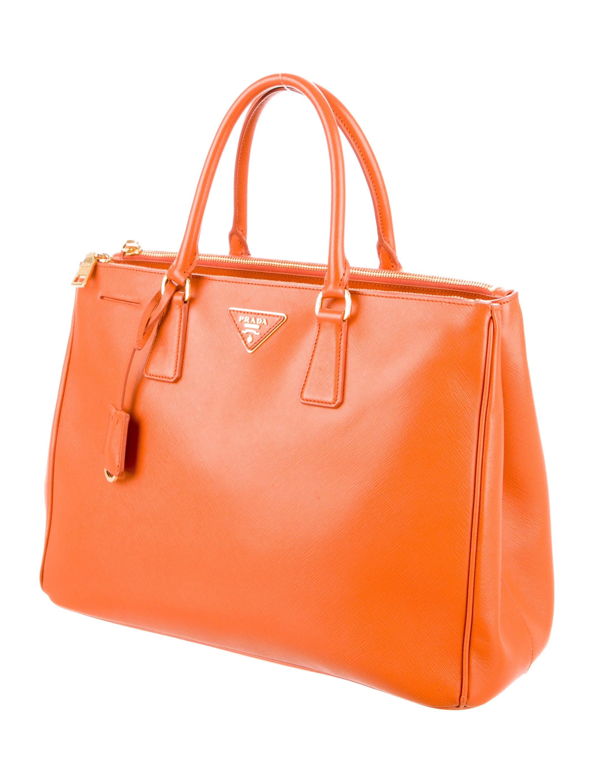 Prada Medium Saffiano Lux Double Zip Tote - Handbags - PRA81845 ...
