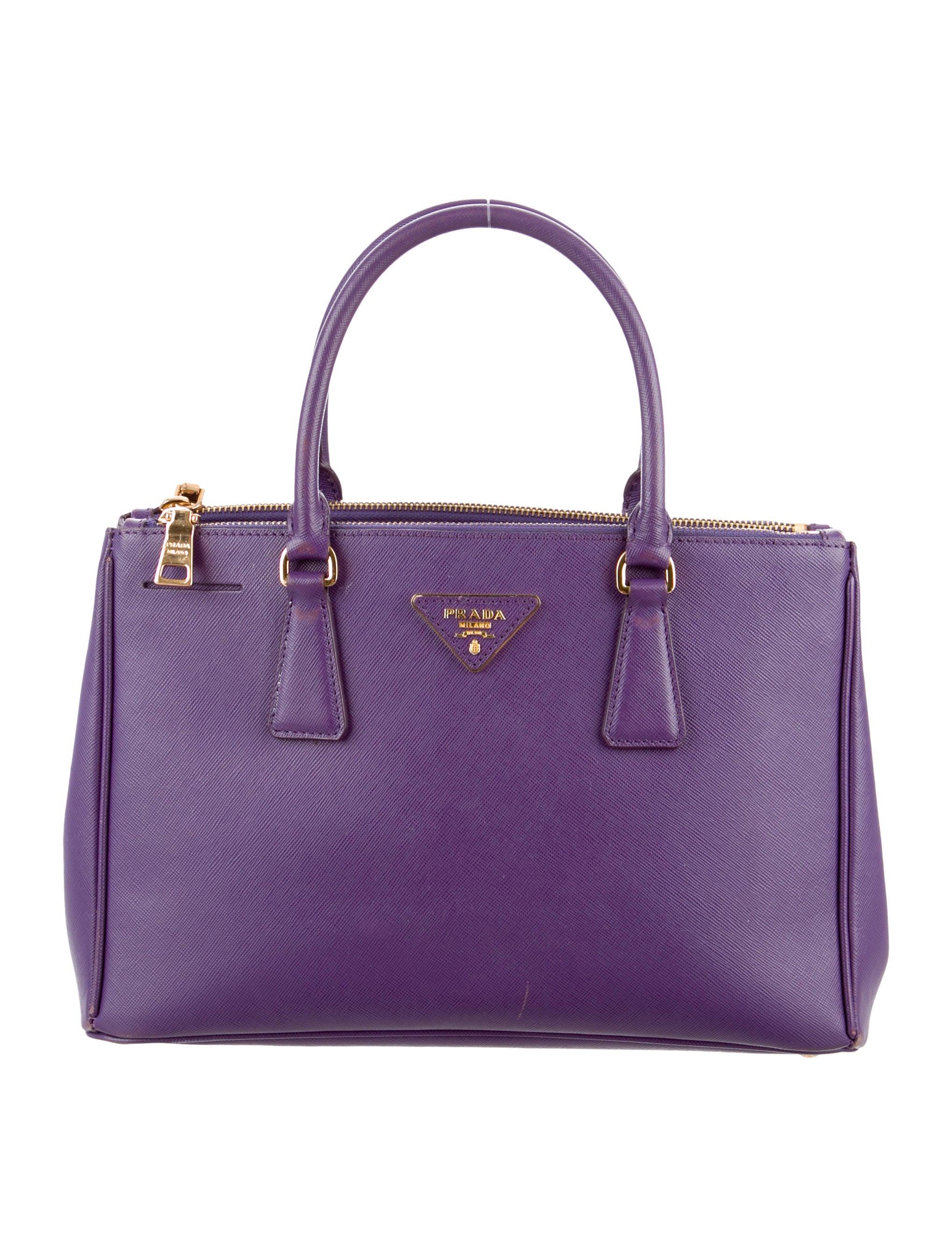 886fd39c5 Prada Saffiano Lux Small Double Zip Tote - Handbags - PRA82726 | The  RealReal