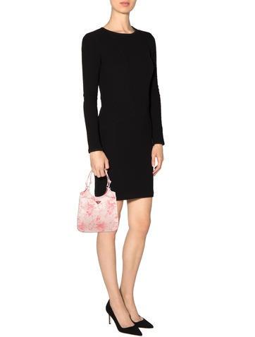 Prada Cherry Blossoms Embroidered Handle Bag - Handbags - PRA82733 ...