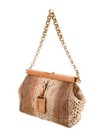 Prada Python Shoulder Bag - Handbags - PRA83077 | The RealReal