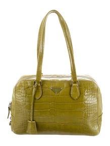 Prada Bi-Color Saffiano Turn Lock Shoulder Ba - Handbags ...