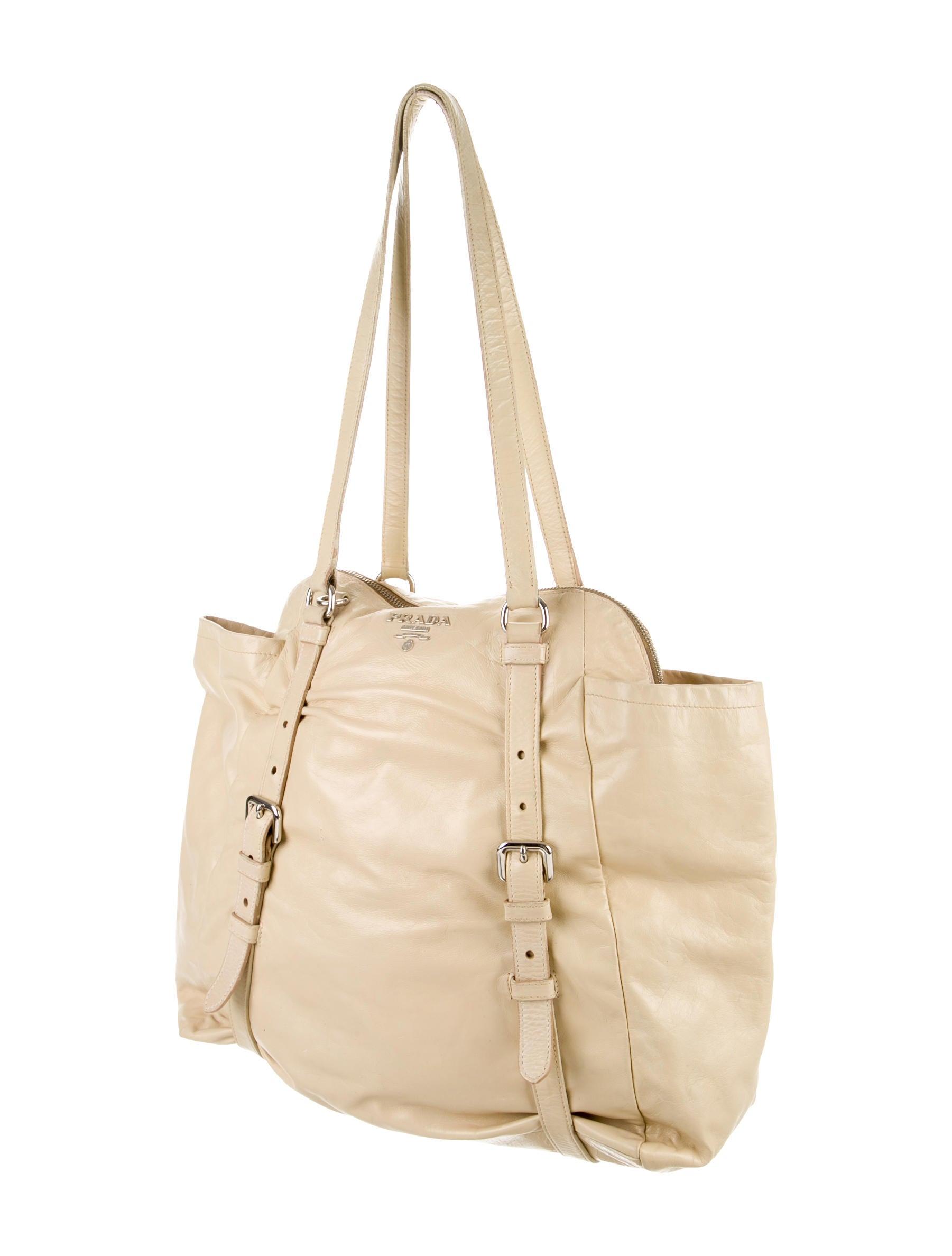 prad bag - Prada Cervo Leather Satchel - Handbags - PRA83101 | The RealReal